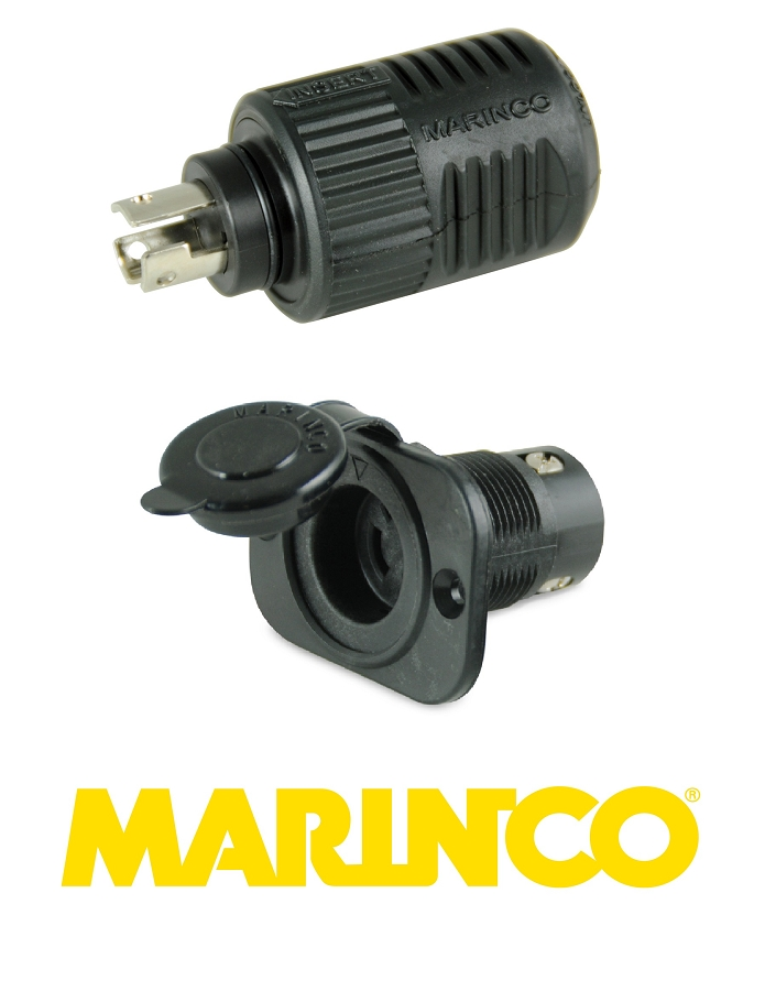 Marinco Trolling Motor Plug and Socket for 12, 24 and 36 Volt Motors