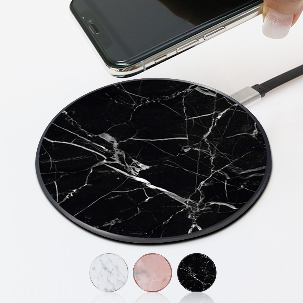 Wireless Battery Charger Only Put Wireless Battery Charger Richmond Finch Marble Richmond And Finch Wireless Charger 5w 7 5w 10w Automatic Mode Fast Charging A Charge