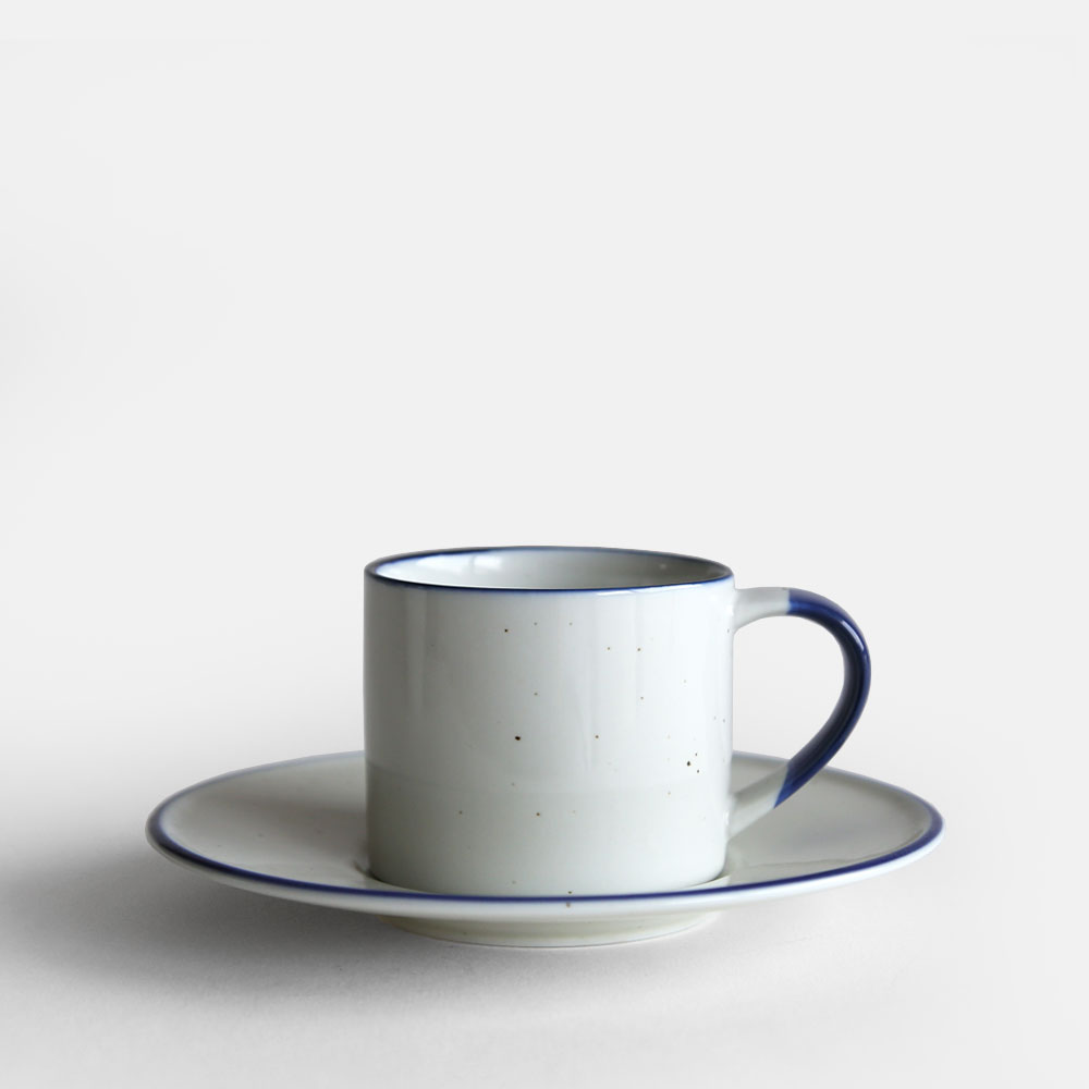 Small Coffee Cups And Saucers Manses Design Ovanaker Coffee Cup With Saucer Small Blue Line 113666