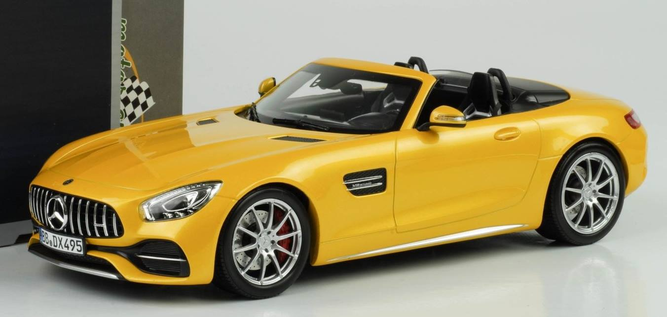 Mercedes Amg Gt C Roadster 2017 Norev 1 18 2017 Model Mercedes Gtc Roadster Metallic Yellow Mercedes Benz Gtc Amg Roadster 2017 1 18 By Norev New