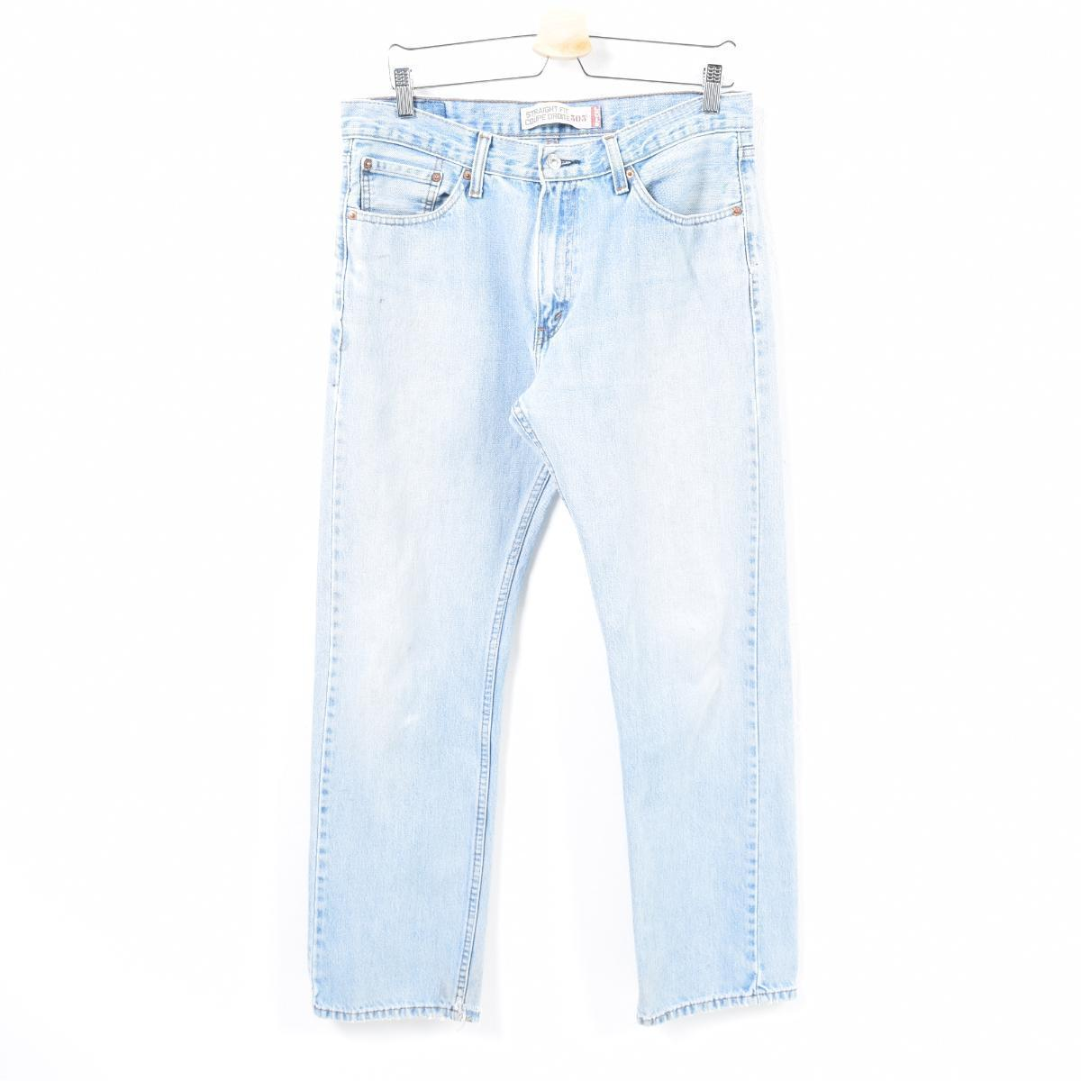 Jeans Coupe Droite Levis Levi S 505 Straight Fit Coupe Droite Tapered Jeans Denim Underwear Men W35 Wan4995