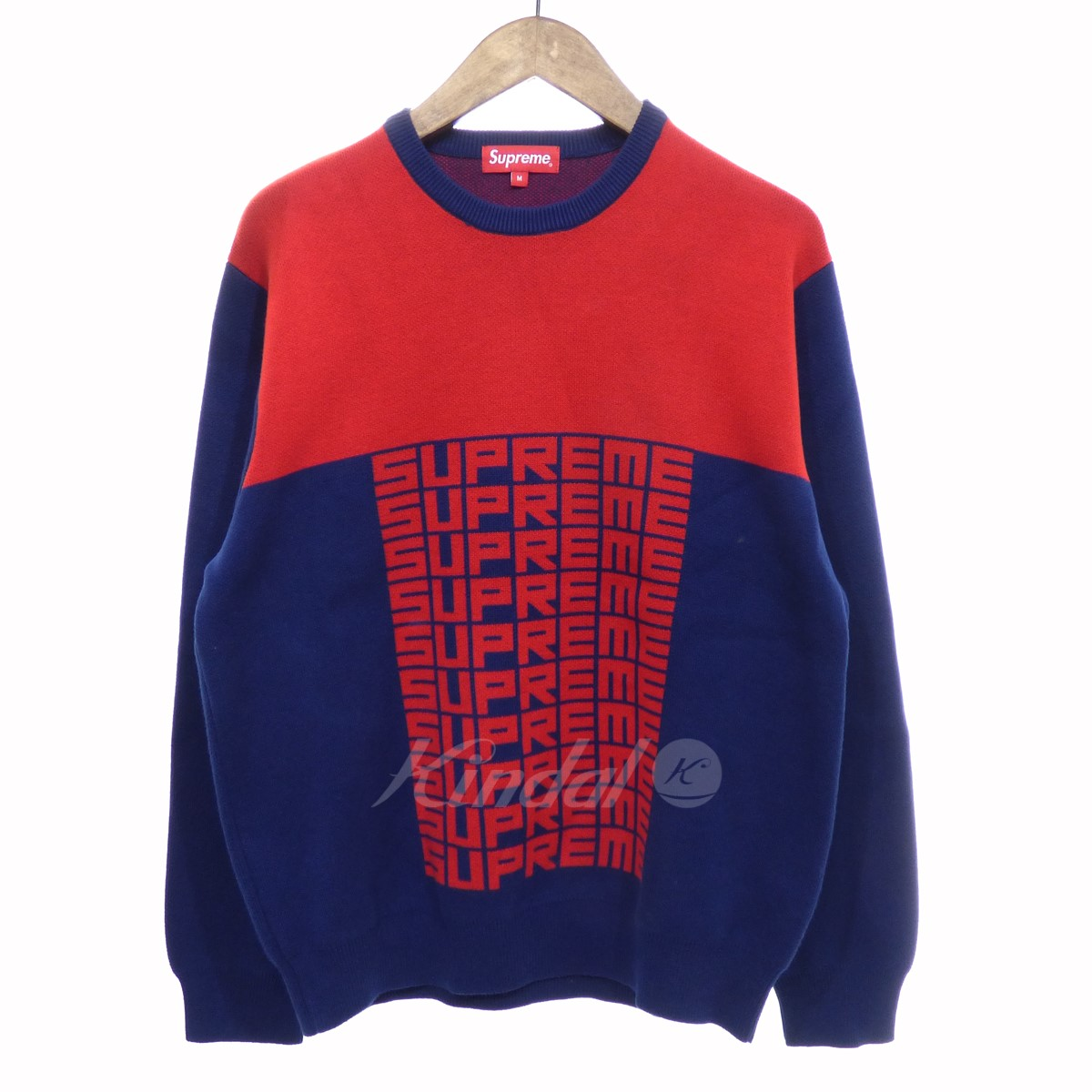 Supreme Sweater Supreme Logo Repeat Sweater Knit Red Size M シュプリーム