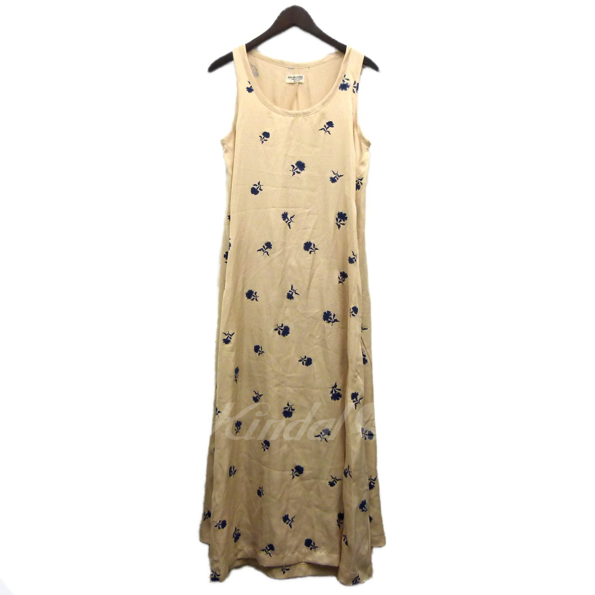 Chambre Gender Robe De Chambre Comme Des Garcons Floral Design Design No Sleeve Dress Ivory Size ローブドシャンブルコムデギャルソン