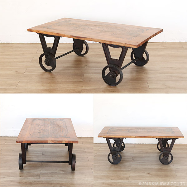 antique coffee table with caster