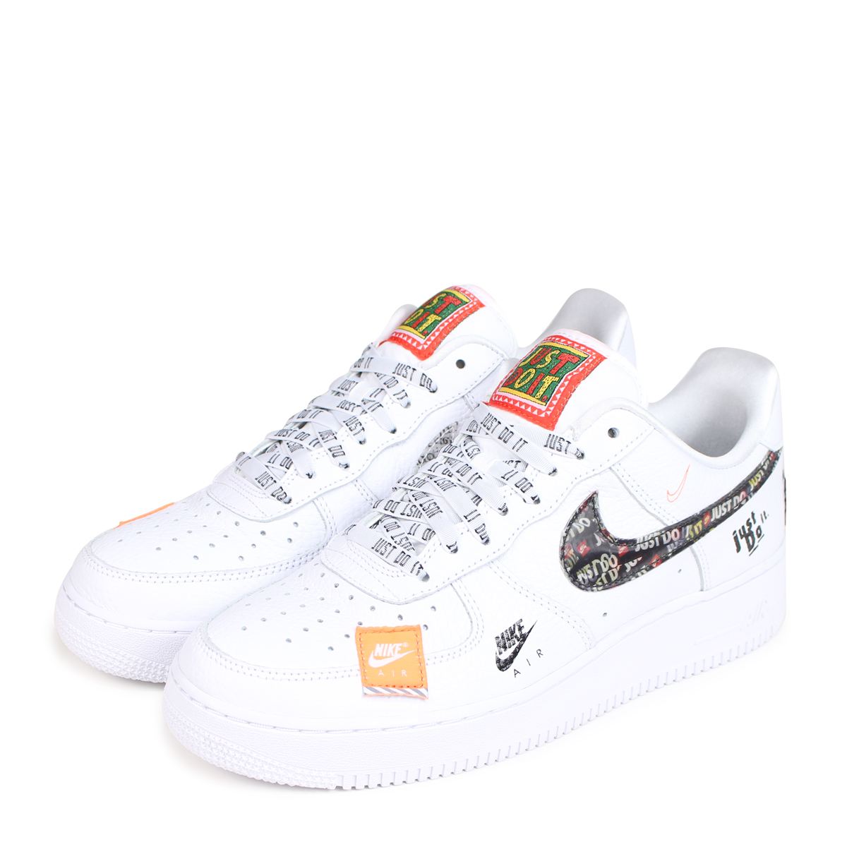 Nike Do Nike Air Force 1 07 Premium Just Do It Nike Air Force 1 Sneakers Men Ar7719 100 White Load Planned Shinnyu Load In Reservation Product 7 27
