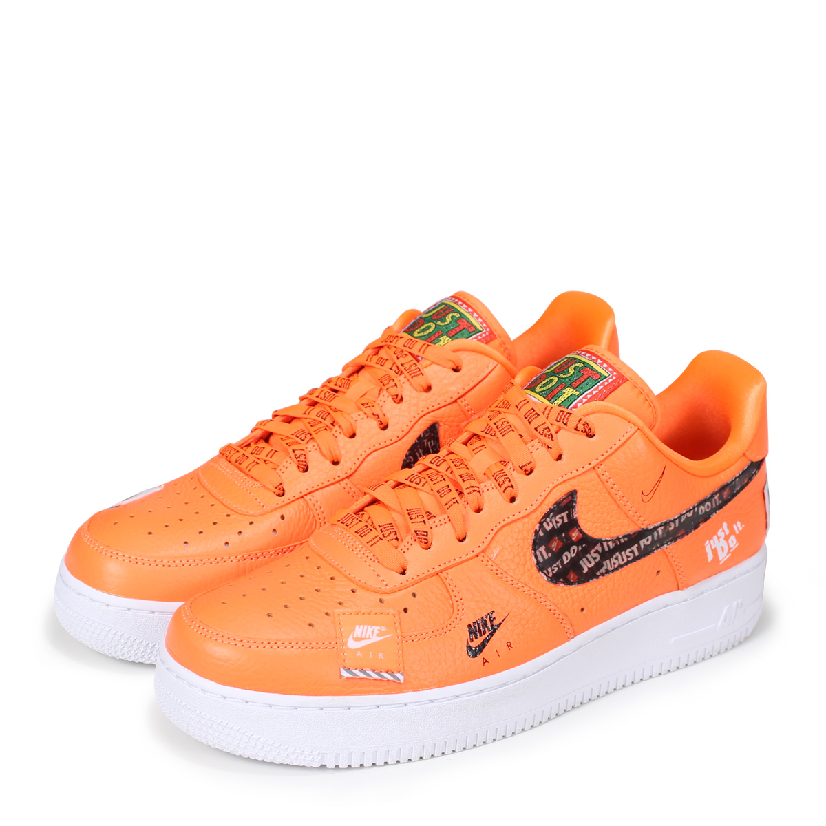 Nike Do Nike Air Force 1 07 Premium Just Do It Nike Air Force 1 Sneakers Men Ar7719 800 Orange Load Planned Shinnyu Load In Reservation Product 7 13