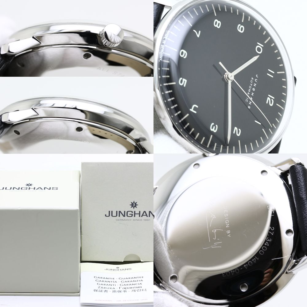 Max Bill Automatic Authentic Junghans Max Bill Automatic 027 3400 00 Men S Watch 35719 Free Ship