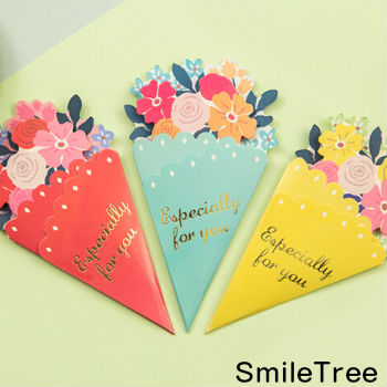 Smile Tree Bouquet card greeting card flower flower card letter