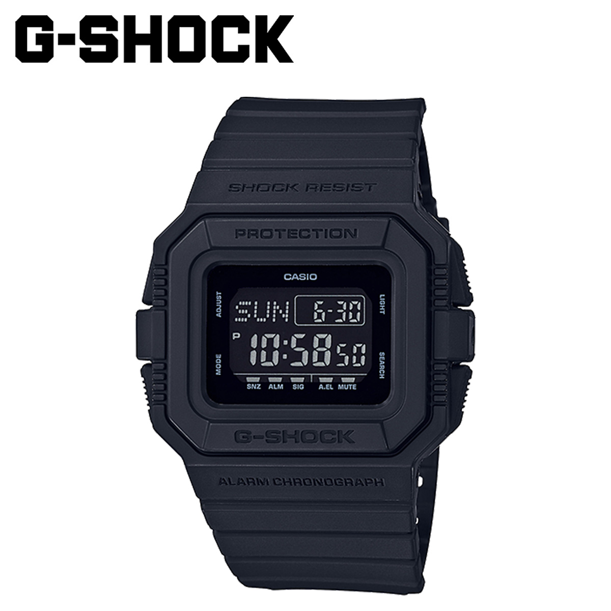 Dw Shop Casio Casio G Shock Watch Dw D5500bb 1jf Black Black Men Gap Dis 5 16 Reentry Load