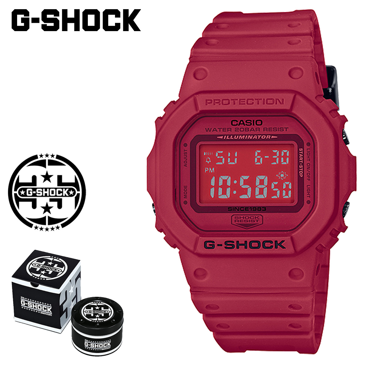 Dw Shop G Shock G Shock G Shock Red Men Gap Dis 1 19 Shinnyu Load Of The 35th Anniversary Of Casio Casio G Shock Watch Dw 5635c 4jr Red Out