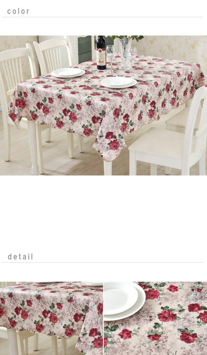 Christmas Tablecloths Australia Tablecloth Christmas Water Repellent Processing Elegant Rose Tablecloth 106cm 152cm Tablecloth Vinyl Party Cross Laminating Processing