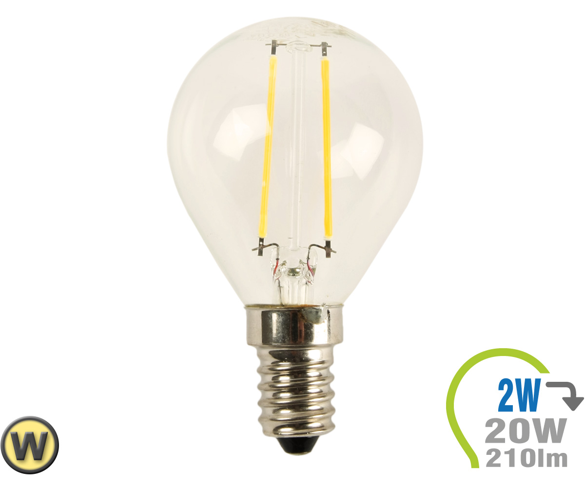 E14 Lampe E14 Led Lampe 2w Filament P45 Warmweiß