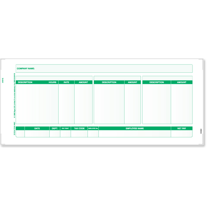 Wage Slips Template – Blank Wage Slips