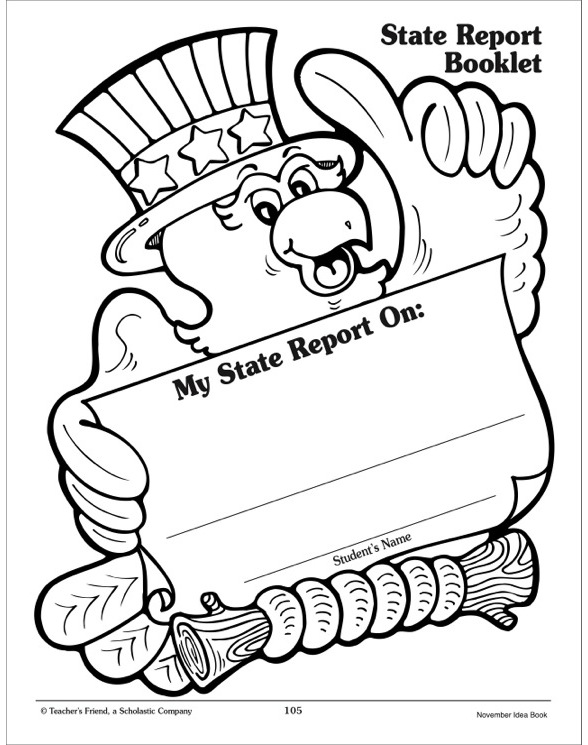 State Report Booklet Report Template by