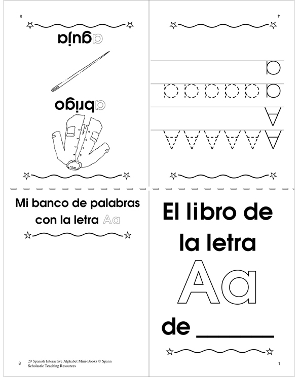 29 Spanish Alphabet Mini-Books by Mary Beth Spann - alphabet in spanish