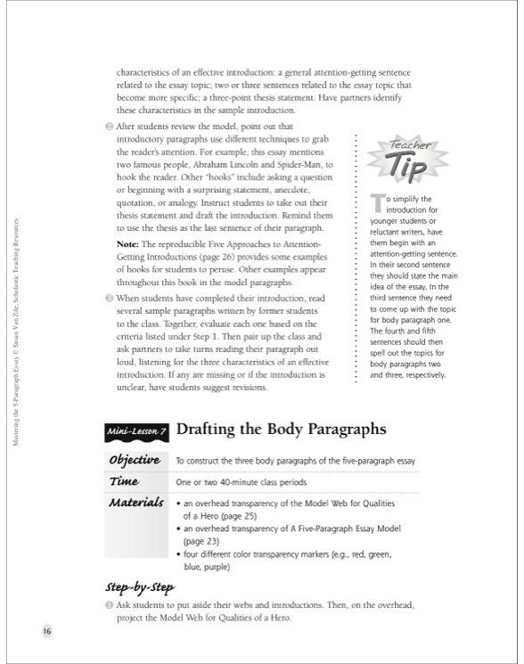 Mastering the 5-Paragraph Essay by Susan Van Zile