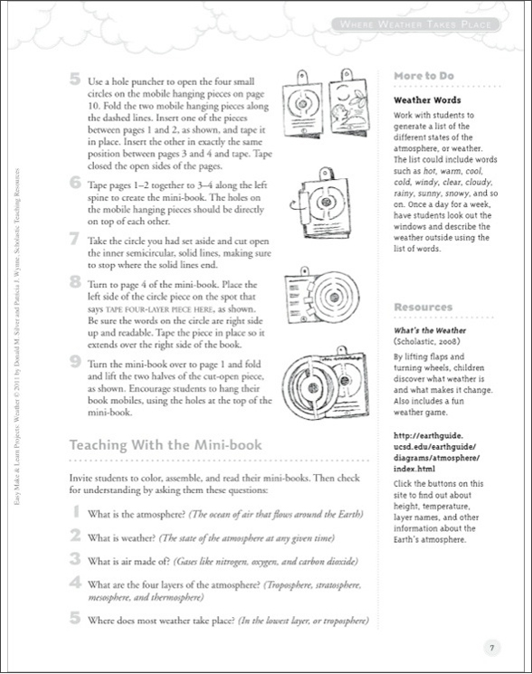 Easy Make  Learn Projects Weather by Donald M Silver;Patricia J
