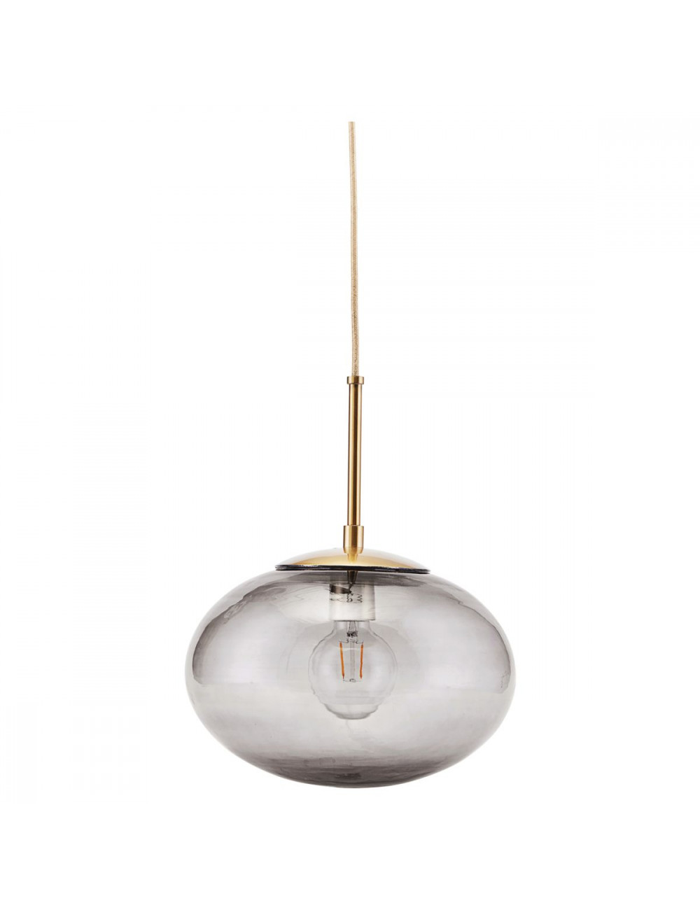 House Doctor Opal House Doctor Lamp Opal L Brass Grey