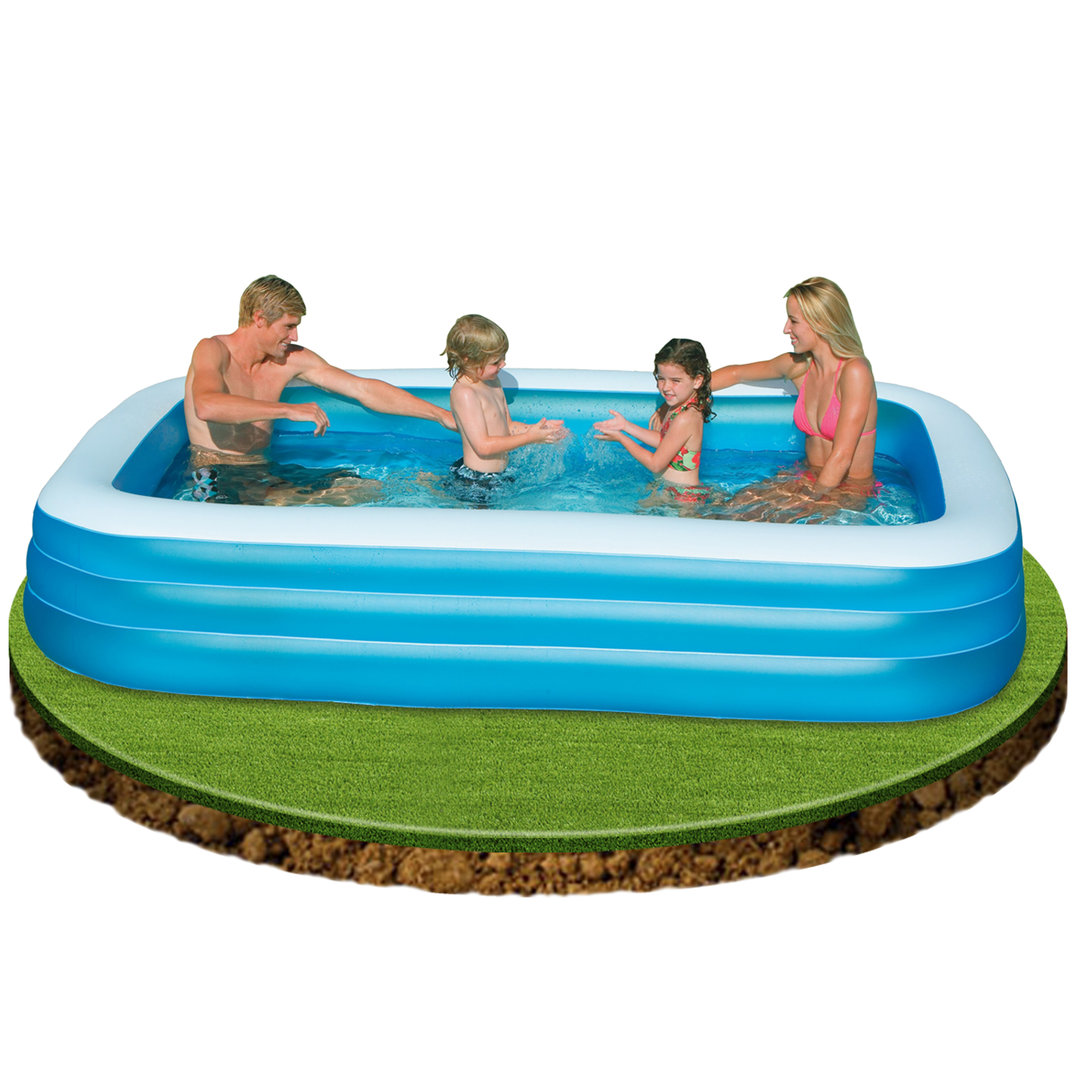 Piscina Intex Familiar Piscina Hinchable Azul De 305x183x56cm Piscina Desmontable