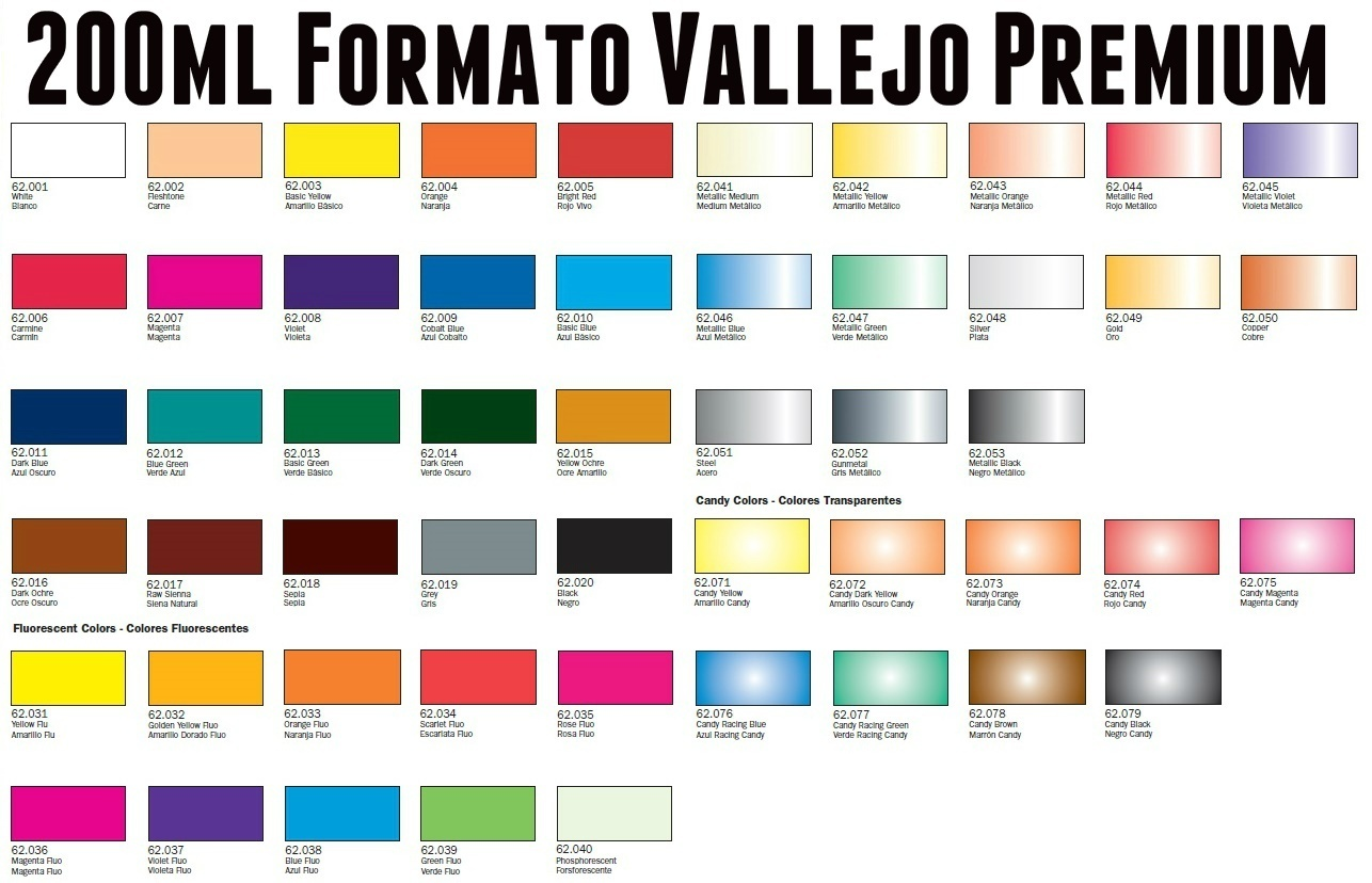 Pinturas Vallejo Barcelona 200ml Pinturas Vallejo Premium 20 Racing Colors