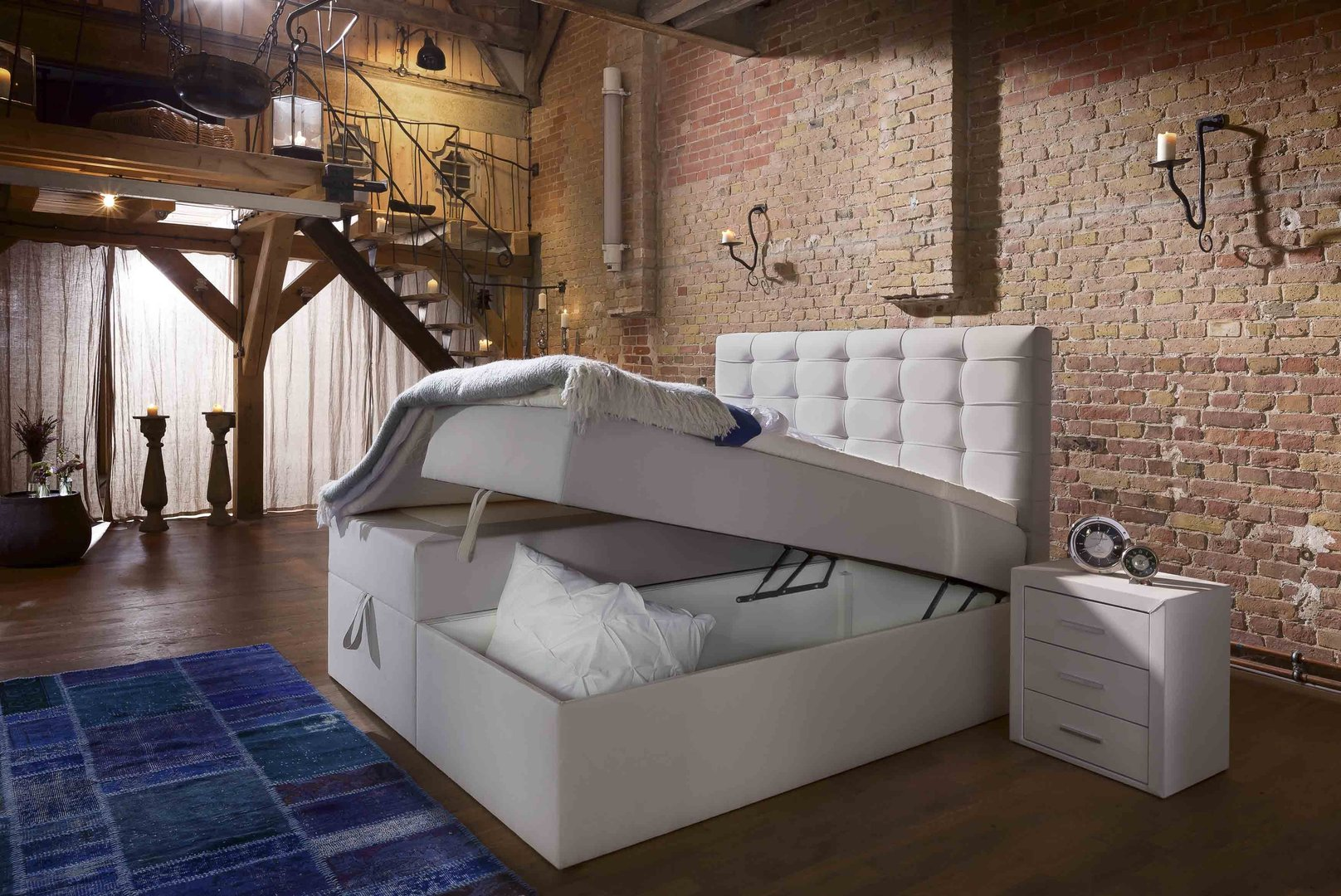 Bett 90x200 Boxspringbett Milano Box Plus Mit Bettkasten-90x200