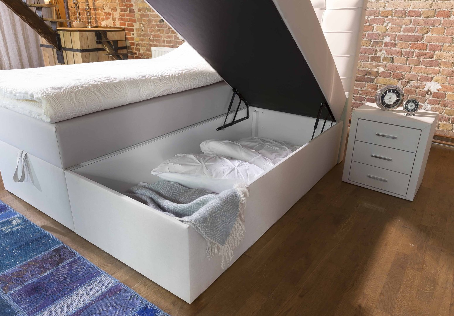Boxspringbett Berlin Boxspringbett Milano Box Plus Mit Bettkasten-90x200