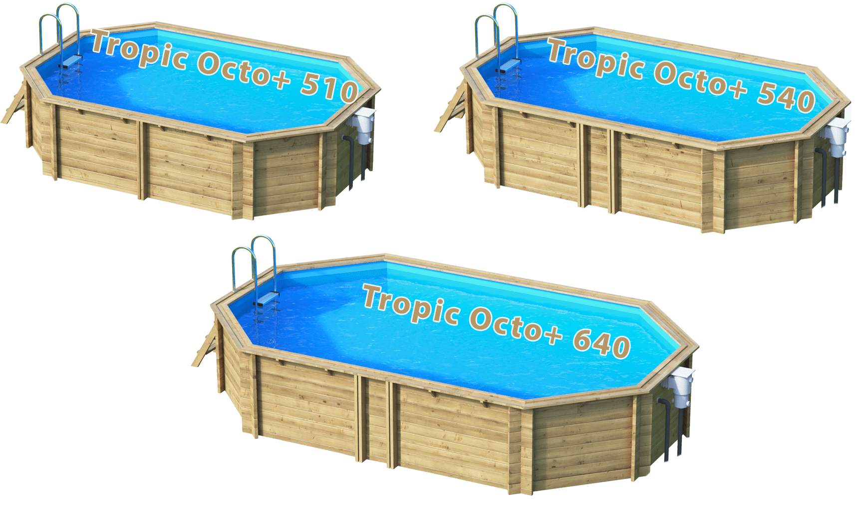 Pool Komplettset Aus Polen Pool Aus Massivholz Tropic Octo 43 Sunday Pools Onlineshop
