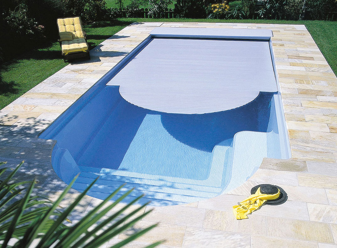 Gfk Pool Farbe Deluxe Pool Mit Römertreppe Sunday Pools Onlineshop