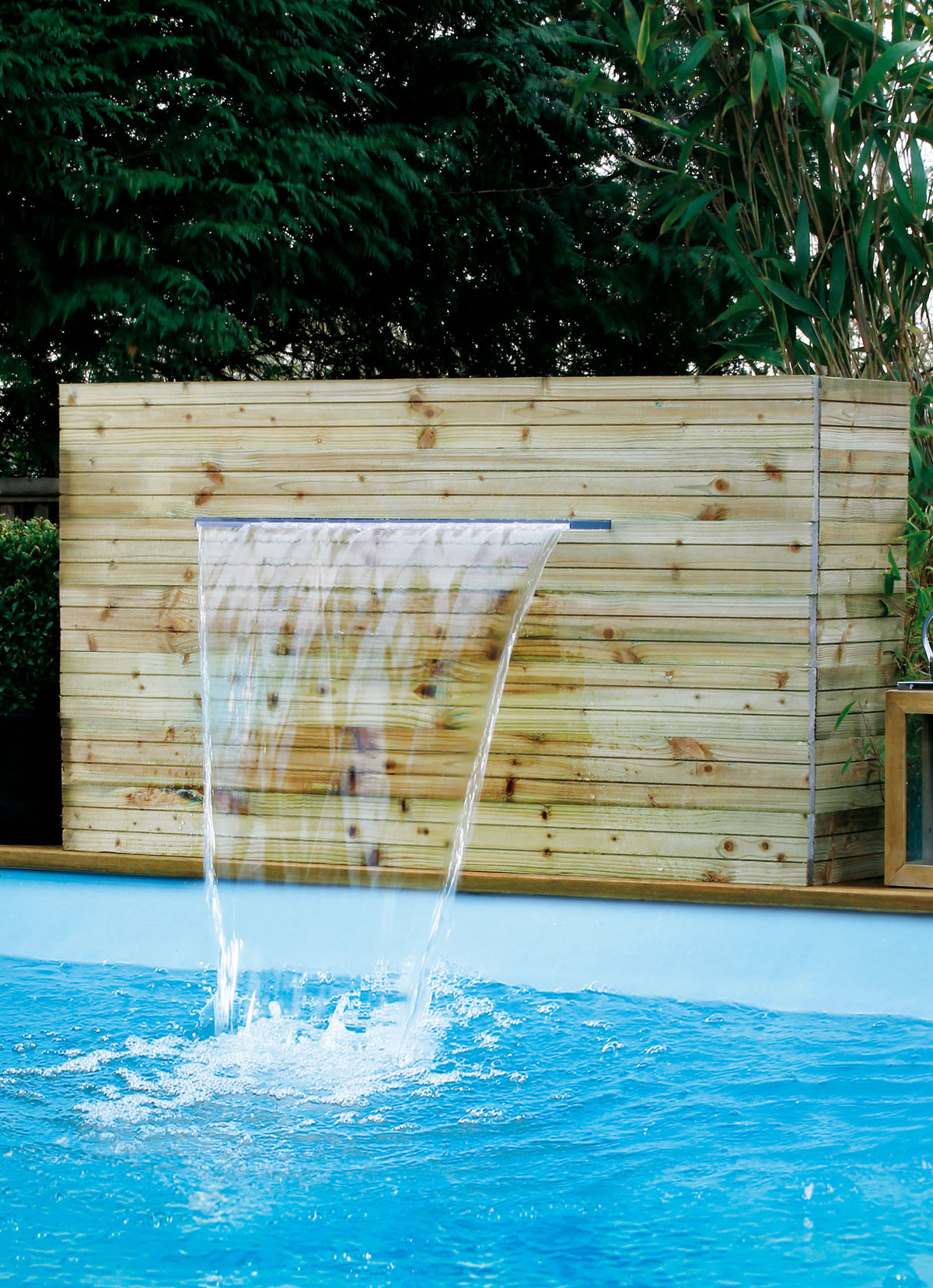 Verrohrung Pool Filteranlage Wand Schwalldusche Quotniagara Quot Mit Led Sunday Pools Onlineshop