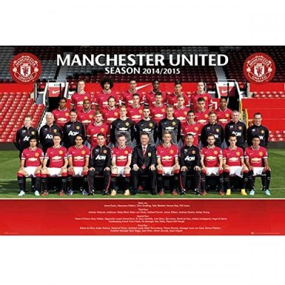 Gift Ideas - Official Manchester United FC Squad Poster - A Great Present For Football Fans ...
