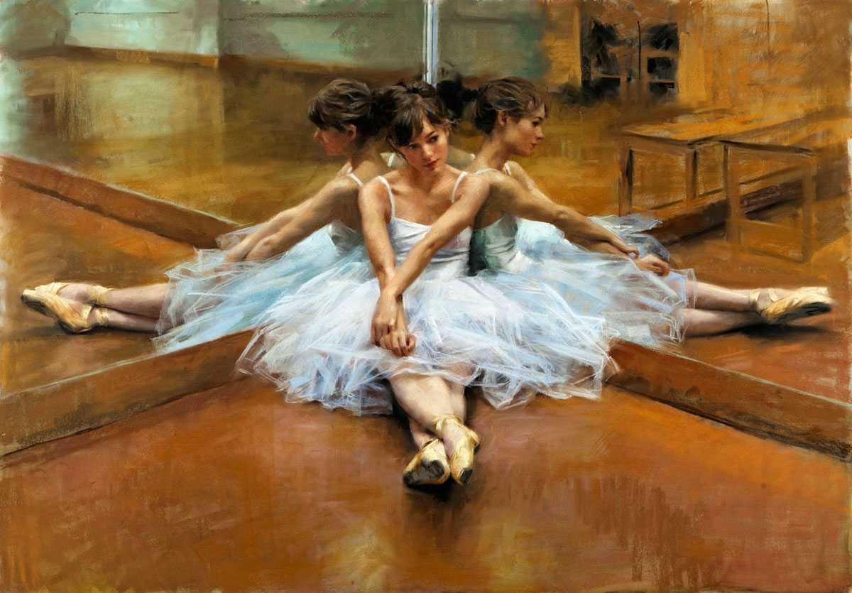 Cuadros Al Oleo De Bailarinas Ballet Mirror Sitting The Uk Art Depot Shop