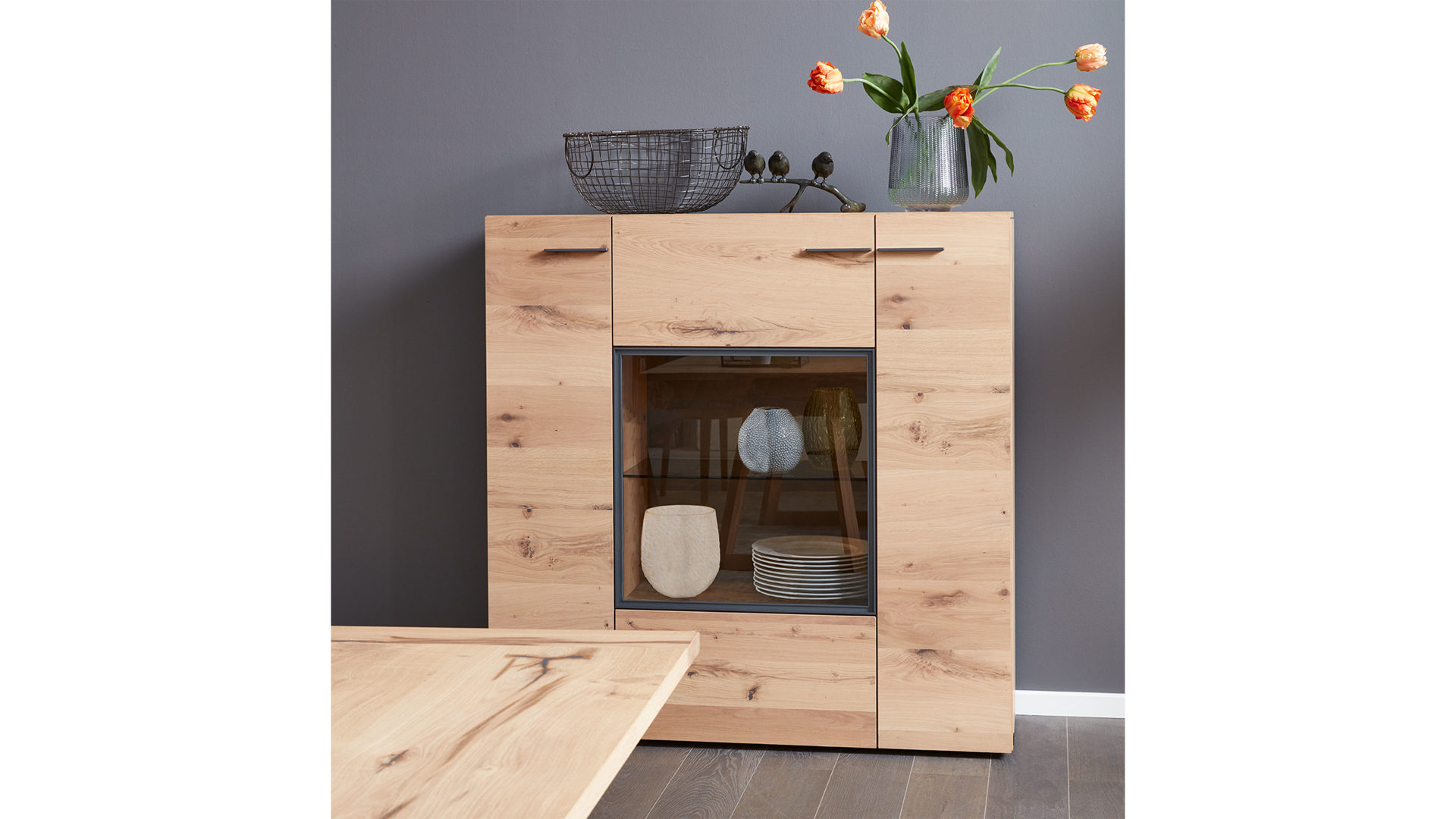 Esszimmer Highboard Highboard Wildeiche