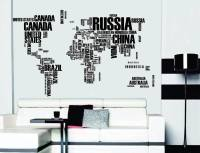 Word World Map Vinyl Wall Sticker  Travel Bible Shop