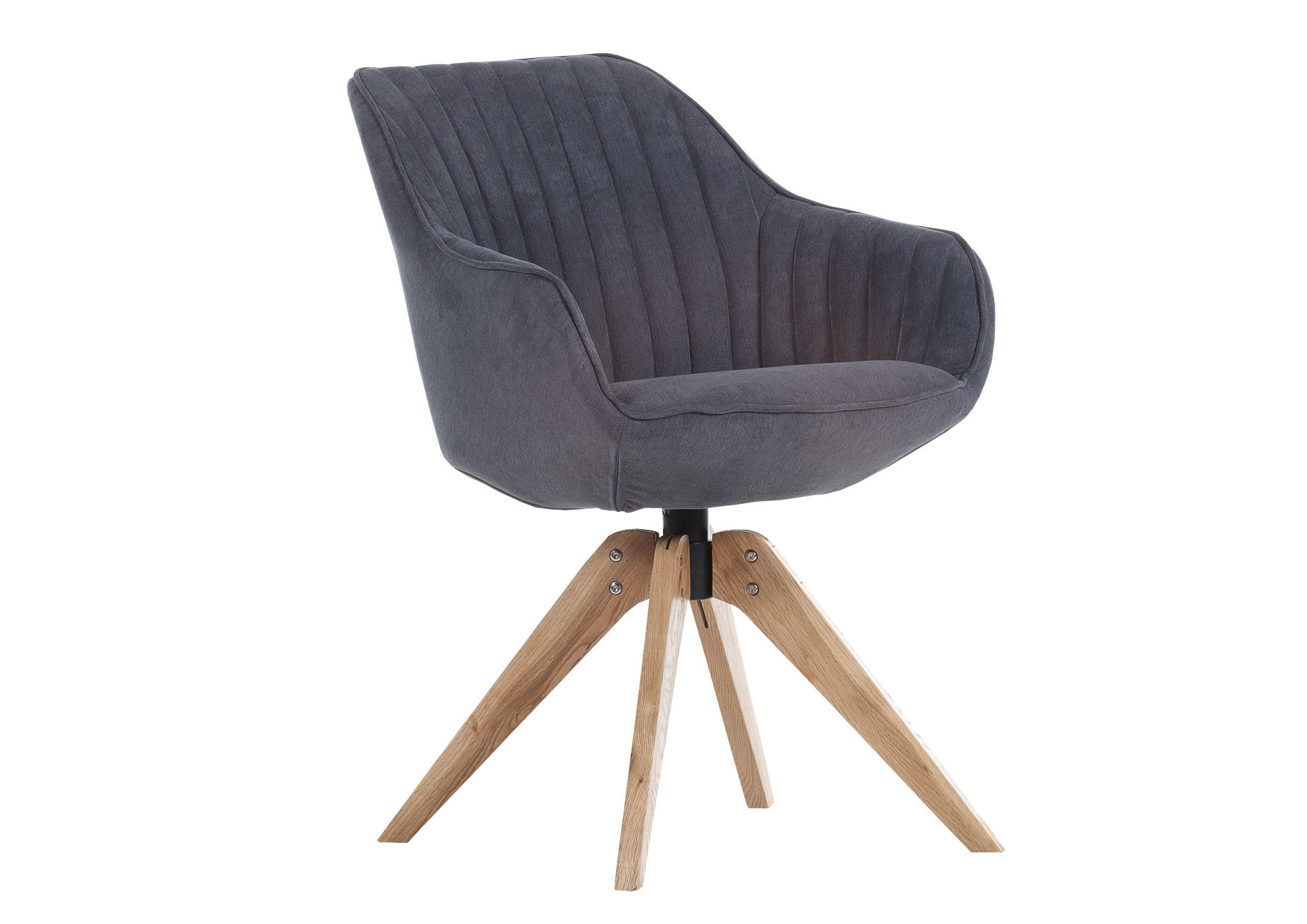 Lounge Sessel Stoffbezug Lounge Sessel Anthrazit