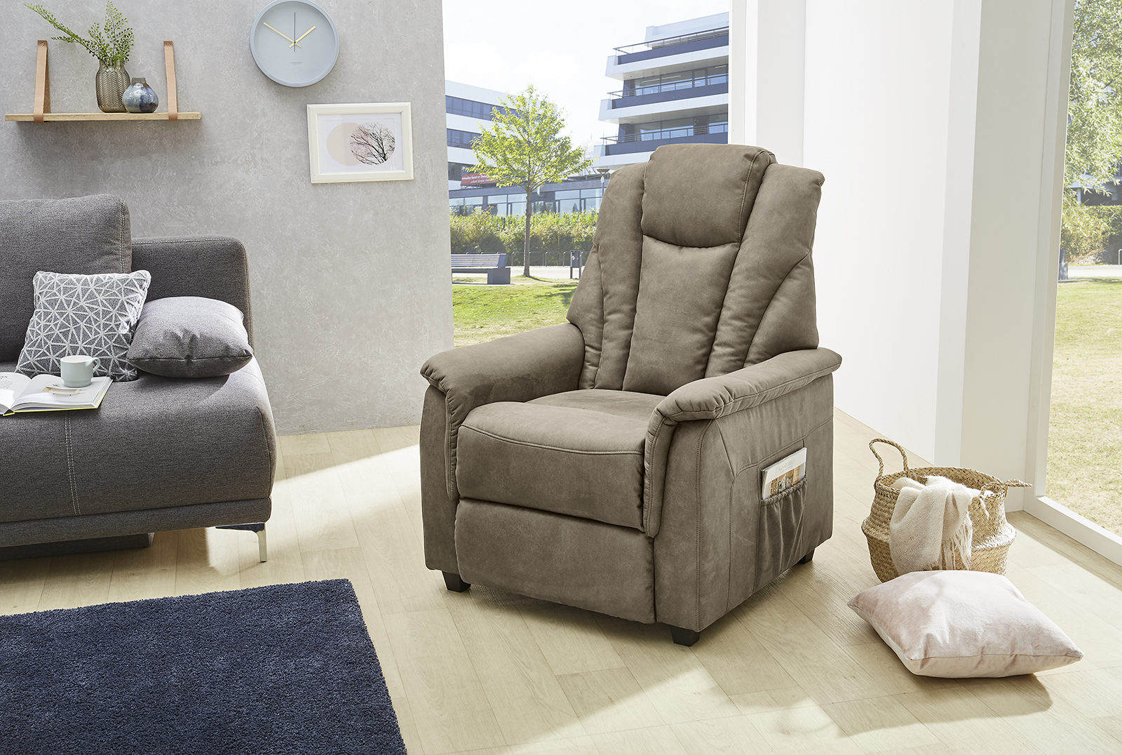 Sessel Stoff Mit Hocker Sessel Mit Hocker Stoff