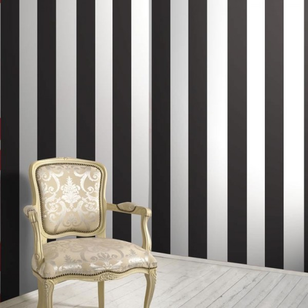 3d Brick Wallpaper Uk Black Amp White Stripe Wallsorts