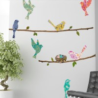 Wall Decal  Paisley Birds & Branches