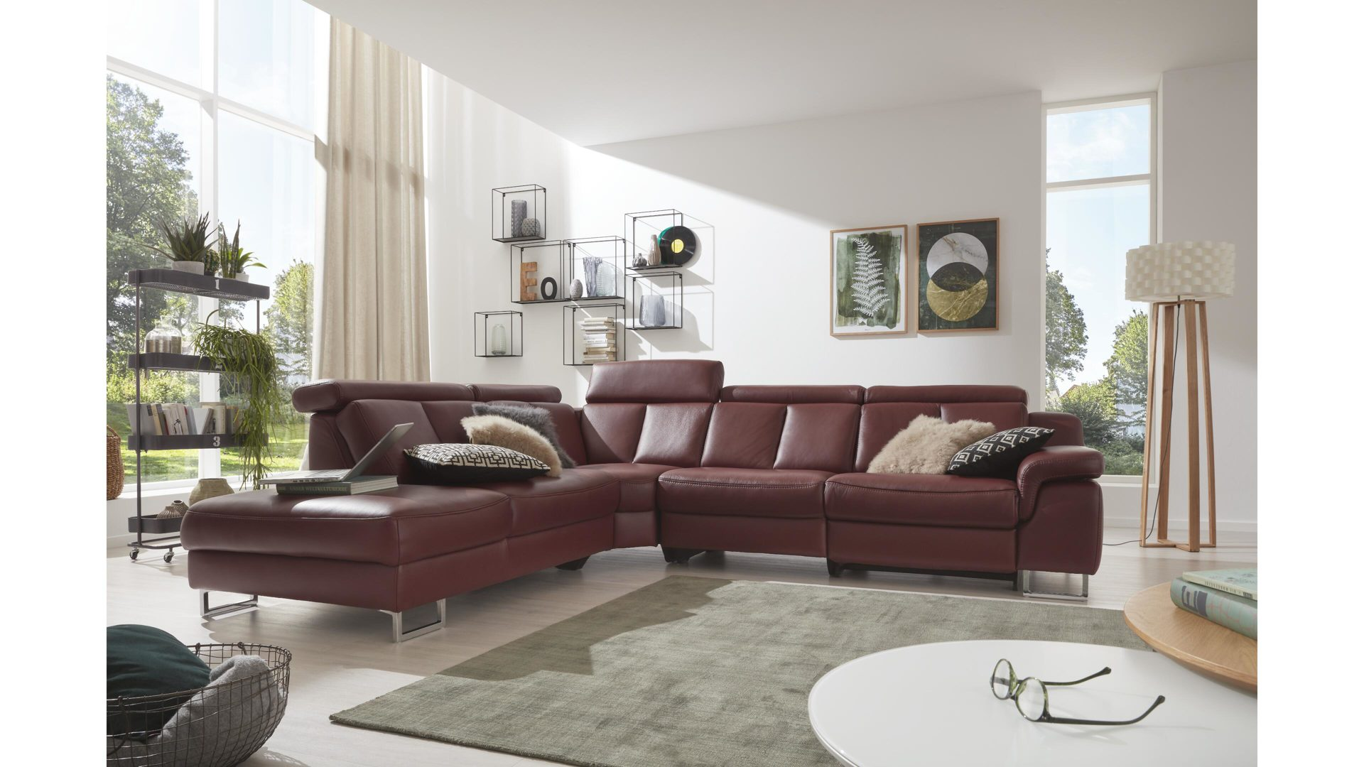 Sofa Füße Chrom Interliving Sofa Serie 4050 Eckkombination Barolofarbenes