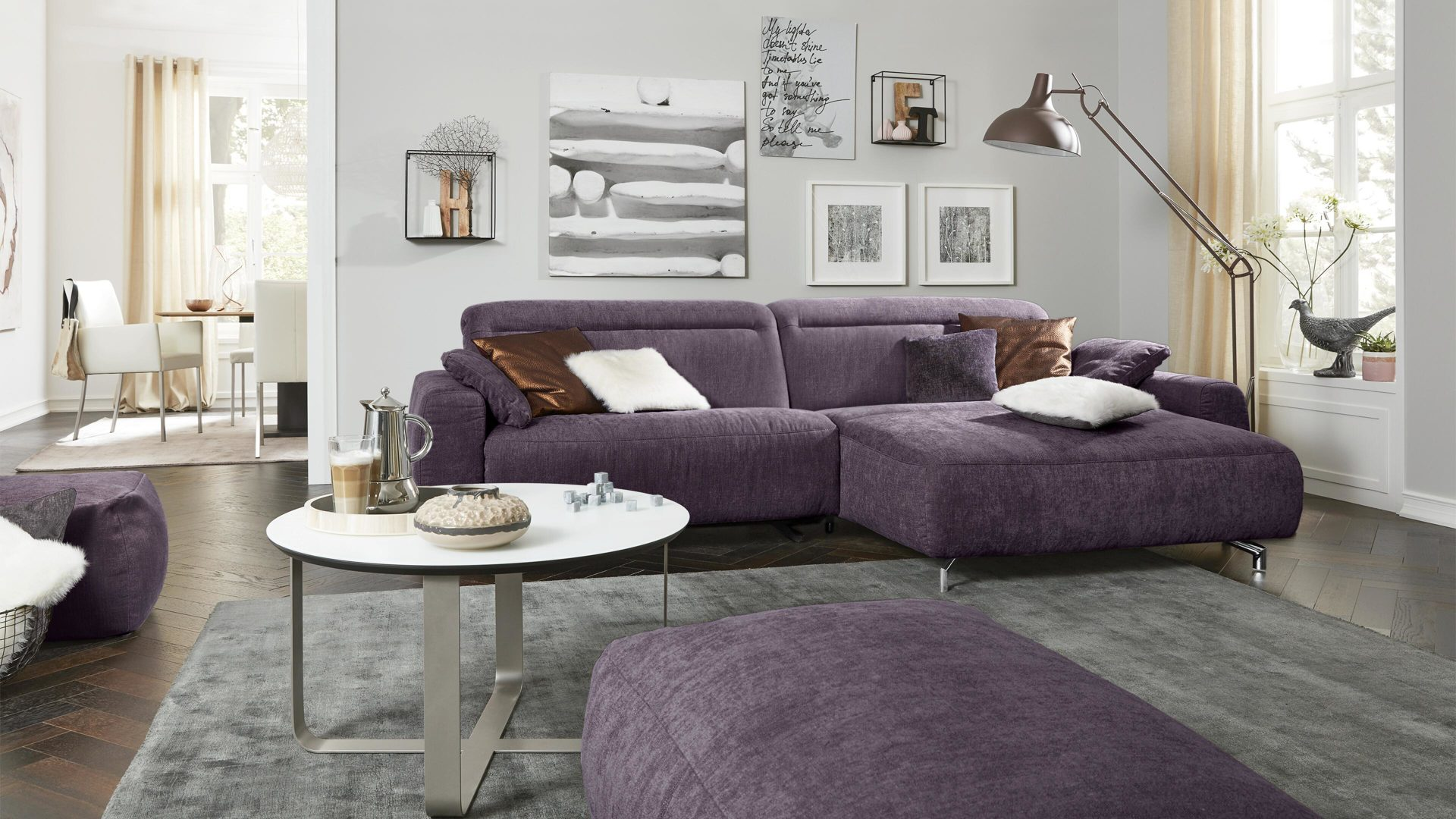 Ecksofa Trends Interliving Sofa Serie 4151 Eckkombination Purplefarbener