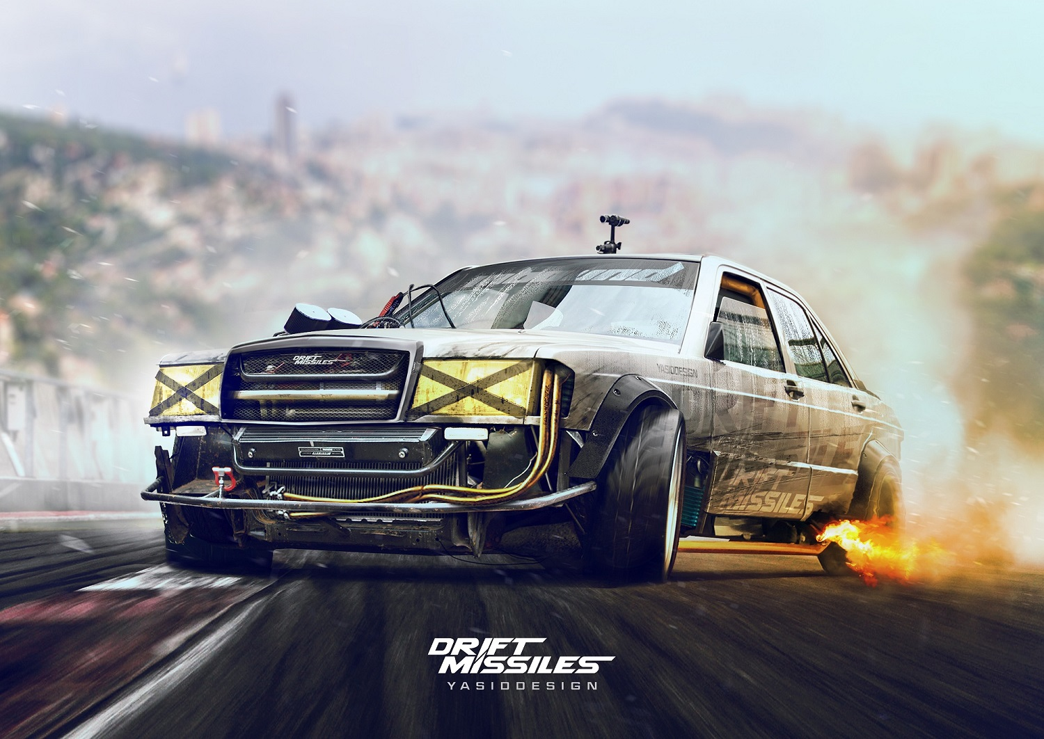 Rally Car Wallpapers Free Mercedes W202 Drift Missile Print Yasiddesign