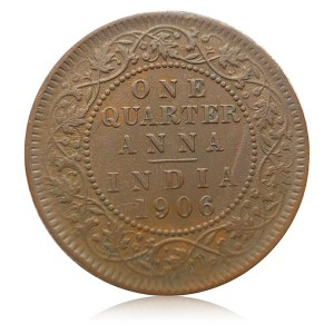 1906 1/4 Quarter Anna King Edward VII Calcutta Mint - Best Buy