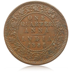 1886 1/4 Quarter Anna Queen Victoria Empress - Best Buy
