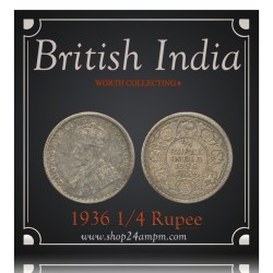 British India 1936 1/4 Rupee George V King Emperor Calcutta Mint – Best Buy