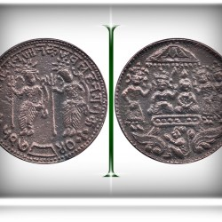 OLD COPPER TOKEN COIN – SRI RAM SITA LAXMAN HANUMAN