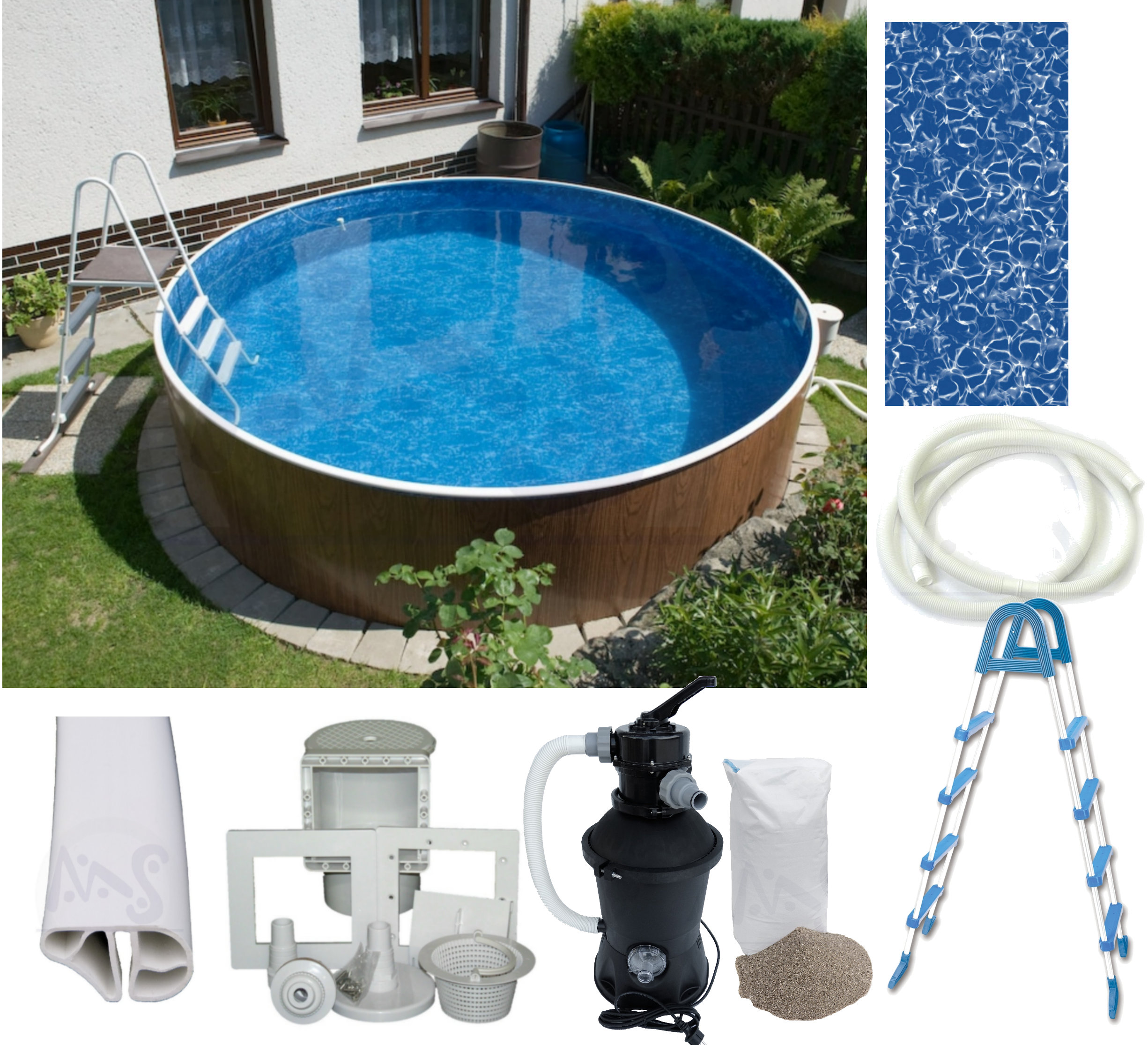 Pool Komplettset Mit Heizung Swimmingpool Swimmingpools Pool Pools Rundbecken Ovalbecken