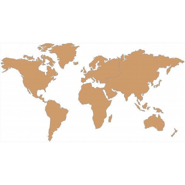 Mappamondo sughero 80x150cm - Mappamondo sughero (cartina mondo