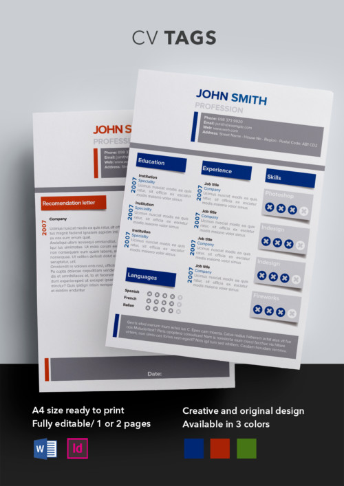 Valen CV Template Resume Templates ShopCV - product recommendation template