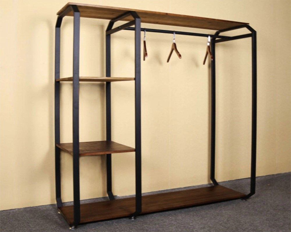 Industrial Clothing Rack Customized Design Garment Storage Rack Industrial Clothing Rack