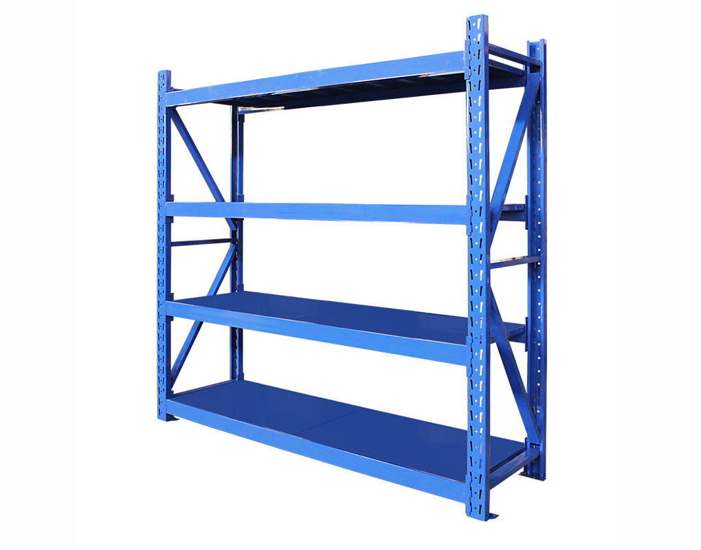 Metal Shelving 700kg Four Layer Warehouse Storage Shelves Warehouse Storage
