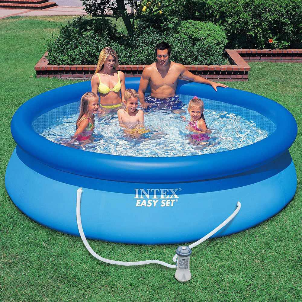 Piscinas Intex Site Piscina Intex Easy Set 3853 Litros Inflável Com Bomba Filtro 110v